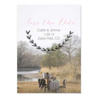 Caitlin & Jimmer Personalized Save the Date 02 11 Cm X 16 Cm Invitation Card