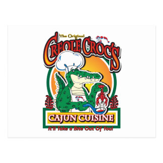 Cajun Creole Mardi Gras Crocodile Postcard