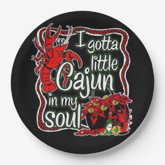 Cajun Soul Mardi Gras Party Paper Plate 9 Inch Paper Plate