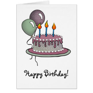 Cake-019 Peperming & Chocolate Sherbert Card