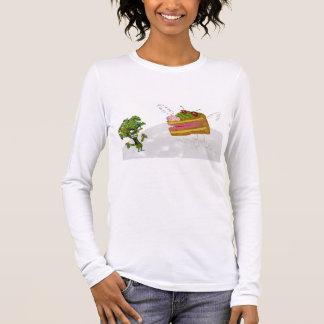 cake and broccoli long sleeve T-Shirt