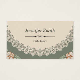 Cake Baker - Vintage Chic Floral Business Card