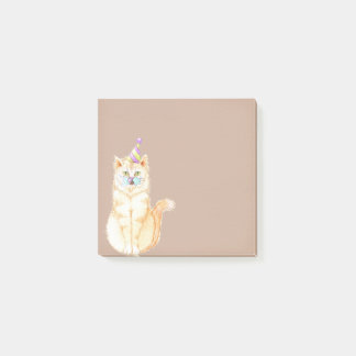 Cake Eating Kitty Cat Post-it® Notes