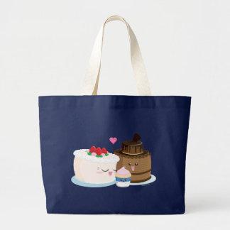 Cake Family Large Tote Bag