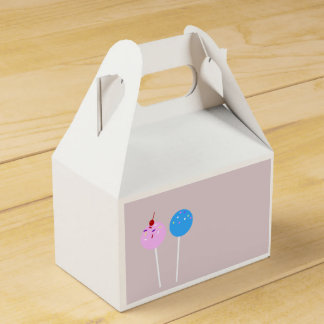 Cake Pop Treat Box Wedding Favour Box