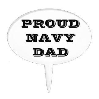 Cake Topper Proud Navy Dad