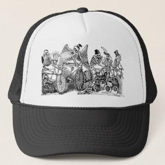Calavera Bicyclists circa late 1800's Mexico Trucker Hat