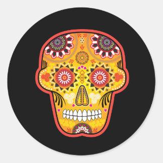 Calavera de los Muertos 2 Classic Round Sticker