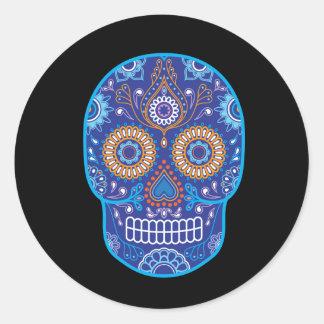 Calavera de los Muertos 4 Classic Round Sticker