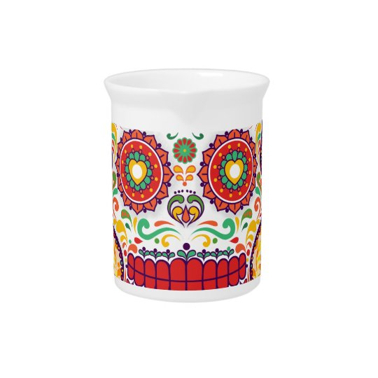 Calavera II. Day of the Dead Mexican Sugar Skull Pitcher