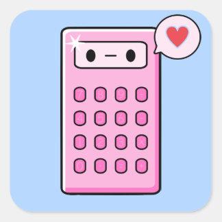 Calculator Love Square Sticker