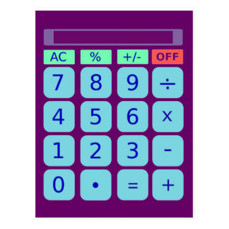 Calculator Postcard