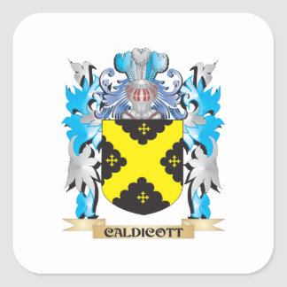 Caldicott Coat of Arms - Family Crest Square Stickers