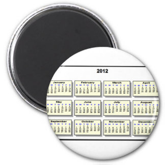 Calendar 2012 The MUSEUM Zazzle Gifts 6 Cm Round Magnet