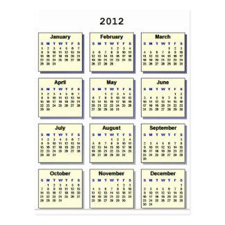 Calendar 2012 The MUSEUM Zazzle Gifts Postcard