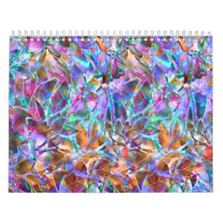 Calendar 2015 Floral Abstract Stained Glass