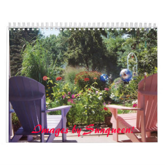 Calendar - Outdoor settings. Gardens, Birds, Field