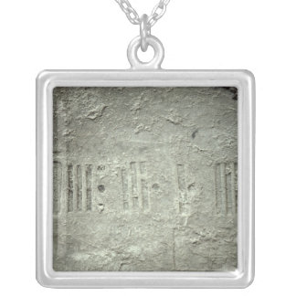 Calender Silver Plated Necklace
