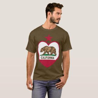 Cali Bear Flag Heart - Star on Top T-shirt