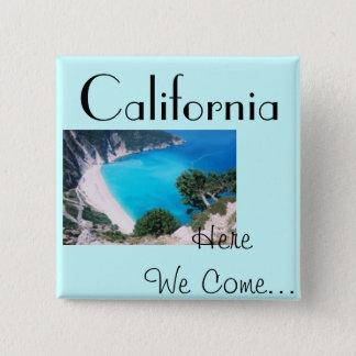 Cali Blue 15 Cm Square Badge