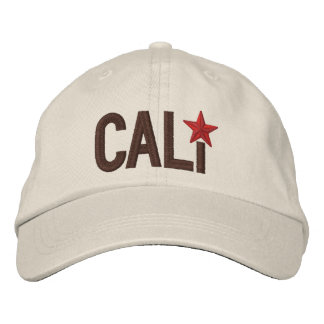 Cali California Republic STAR Embroidery Embroidered Hat