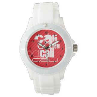 Cali; Scarlet Red Stripes Watch
