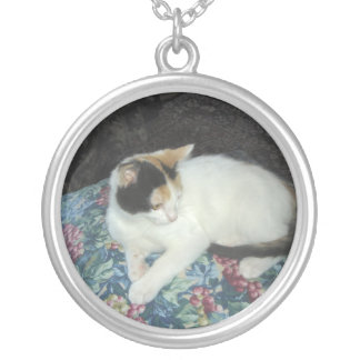 Calico Kit Silver Plated Necklace