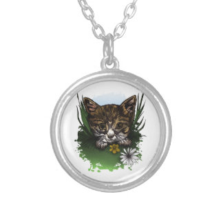 Calico Kitty Silver Plated Necklace