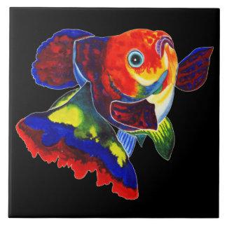 Calico Veiltail goldfish design decorative tile
