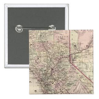 California 7 15 cm square badge