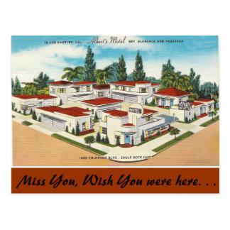 California, Albert's Motel Postcard