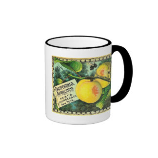 California Apricots - Vintage Crate Label Coffee Mugs