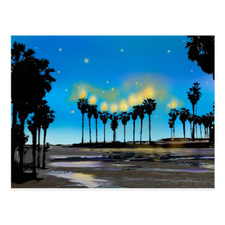 California Beach Hanukkah Postcard