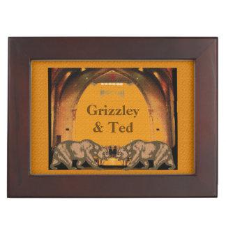 California Bears Gay Grooms' Keepsake Box Gift