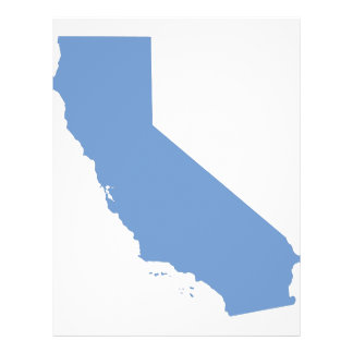California: Blue State! 21.5 Cm X 28 Cm Flyer