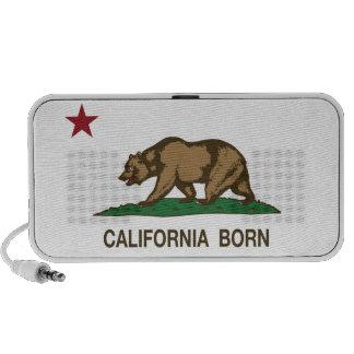 California Born Bear Flag iPhone Speaker