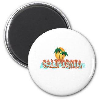california cool 6 cm round magnet