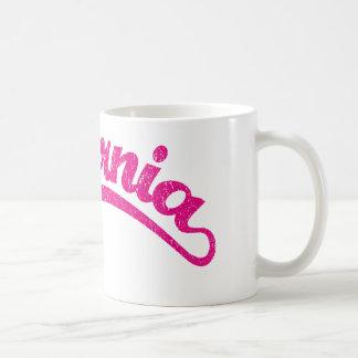 California Distressed Script Logo in Magenta Coffee Mug