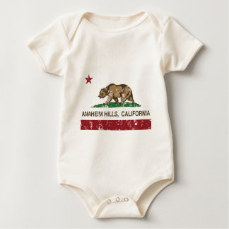 california flag anaheim hills distressed baby bodysuit
