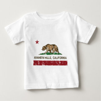 california flag anaheim hills distressed baby T-Shirt