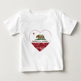 california flag anaheim hills heart distressed baby T-Shirt