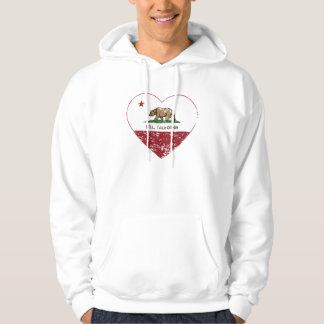 california flag bell heart distressed hoodie