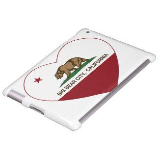 california flag big bear city heart