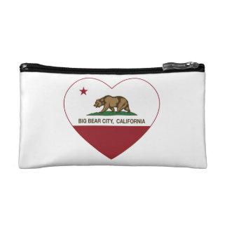 california flag big bear city heart cosmetics bags