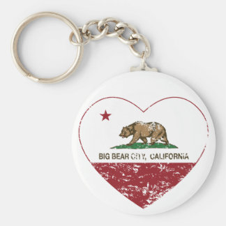 california flag big bear city heart distressed basic round button key ring