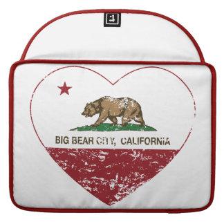california flag big bear city heart distressed MacBook pro sleeves