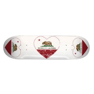 california flag big bear city heart distressed skate deck