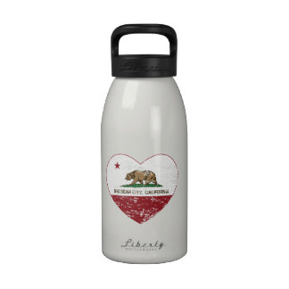 california flag big bear city heart distressed drinking bottle