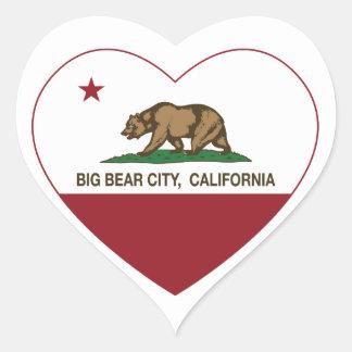 california flag big bear city heart heart stickers
