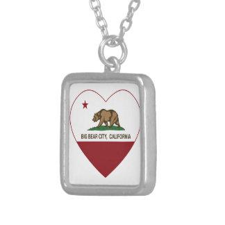 california flag big bear city heart necklace